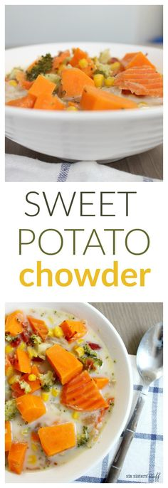 Slow Cooker Sweet Potato Chowder | Six Sisters' Stuff