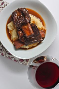 Slow Cooker Beef Short Ribs: Thick, savory, slow-cooked short ribs ...