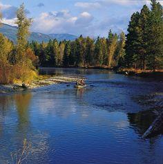 Flyfishing the Bitterroot River, Victor, Montana