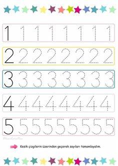 # # of - Schulanfang 2019 Printable Preschool Worksheets, Kindergarten Math Worksheets, Worksheets For Kids, Tracing Worksheets, Preschool Writing, Numbers Preschool, Preschool Learning Activities, Preschool Education, Barn