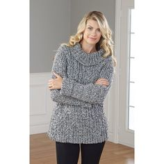 """Mary Maxim - Cabled Ragg Tunic, Large-X-Large (44, 48"""")"""