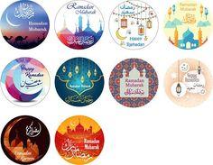 10 Ramadan Mubarak Stickers Eid Decoration Gift Ramadan Kareem Balloons
