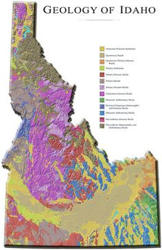 """Introduction to Idaho Geology Web Course The """"Digital Geology of Idaho"""" systematically divides Idaho geology into individual teaching module. Could be interesting. Places To Travel, Places To See, My Own Private Idaho, Rock Hunting, Illustrations, Wyoming, Beautiful Landscapes, Adventure, World"""