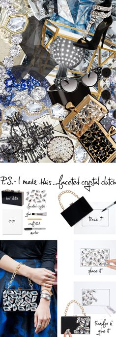 Inject extra edge into a chic accessory with bold crystal embellishment.With inspiration fromTom Ford'shardcore-coolring box clutch, the additionof faceted crystals will catch eyes and light, pumping up the sparkle inyour look, day or night. Think of it as your personal wrist disco! To create: Trace thebox clutchonto a piece ofpaperwith amarker. Plan and place eachSwarovski De-Art Flat Fancy Stonewhere desired on the template. One by one, transfer each crystal by applying ...