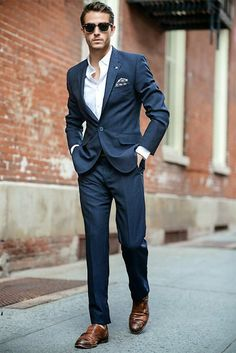 tailored navy grooms wedding suit inspo - brides of adelaide