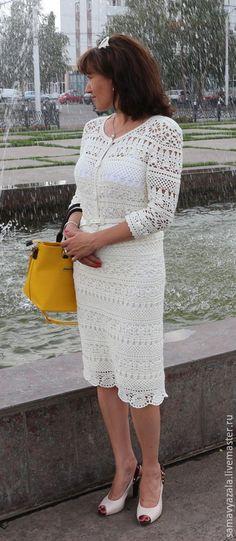 Купить Костюм от Dolce&Gabbana - белый, орнамент, костюм, костюм женский, Костюм вязаный, Вязание крючком