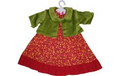 A dress and jacket combination for Lolle dolls