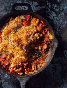 This classic country French dish is a meat-lovers' fantasy that's heavy on the beans—because why not use all the proteins? Add a blanket of crispy breadcrumbs and serve with both red wine and an elastic waistband. French Dishes, French Food, Smoked Pork, Boneless Skinless Chicken, Meat Lovers, Looks Yummy, Fall Recipes, Dinner Recipes, Recipe Using