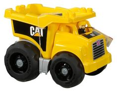 Have your little truck driver get behind the wheel of the CAT Dump Truck by Mega Bloks! Your child can haul all sorts of loads by pushing the Truck around. Dump Trucks, Toy Trucks, Sports Games For Kids, Little Truck, Play Vehicles, Large Truck, Walmart, Best Kids Toys, Buy A Cat