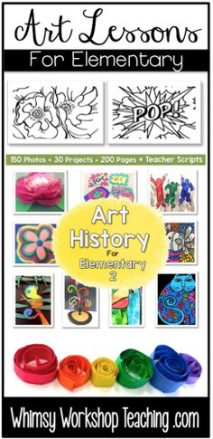 Art History 2 has 30 easy lessons for busy teachers. Simple supplies, photo directions, and teacher scripts to read aloud.