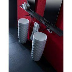 Pedestal vanities by Karol Luxury Bathroom Vanities, Italian Bathroom, Modern Vanity, Free Design, Tableware, Pedestal, Home, Iron, Google