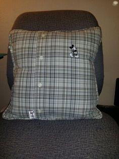 Grandpa's shirt! Made a keepsake pillow.