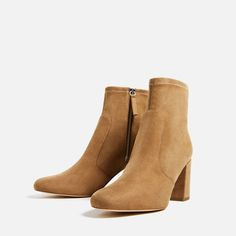 Image 4 of ELASTIC HIGH HEEL ANKLE BOOTS from Zara