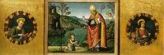 Pinturicchio. Pala di santa Maria dei Fossi, predella, visione di sant'Agostino