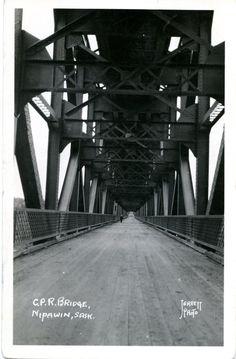C. P. R. Bridge, Nipawin, Sask.   saskhistoryonline.ca