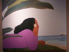 I absolutely love Pegge Hopper art! This photo was taken at the Grand Wailea Art Gallery. Pegge Hopper, Polynesian Art, Hawaiian Art, Elements Of Art, Hanging Art, Painting Inspiration, Vintage Posters, Sculpture Art, Amazing Art