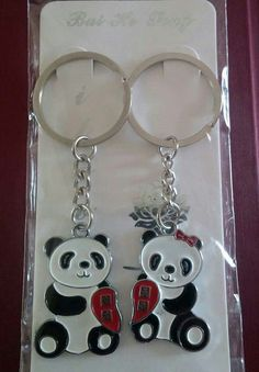 Panda Couple Key Chains...