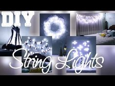 the photo string  lights oh my gosh. remember color scheme is blue silver black and white!