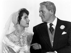 """""""Father of the Bride""""... The original with Spencer Tracy & Elizabeth Taylor  <3"""