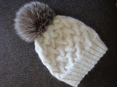 Winter Cable Hat.  Pattern can be easily modified for baby size just decreasing number of stitches…
