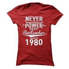 Never Underestimate The Power of Bartender T-Shirts, Hoodies (23$ ==►► Shopping Here!)