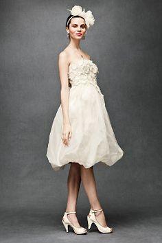Floral Artwork #Short #Wedding #Dress