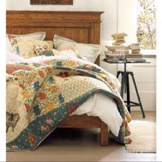 Pottery Barn Neena Patchwork Quilt Bedroom Pinterest