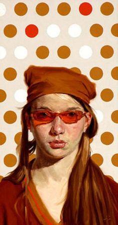 Por amor al arte: Jeffrey Hein Ap Drawing, Painting & Drawing, Illustrations, Illustration Art, Arte Cyberpunk, Kunst Online, Drawing People, Portrait Art, Figure Painting