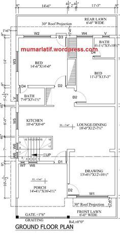 Model House Plan, House Plans, 10 Marla House Plan, House Map, Corner House, Big Family, Civil Engineering, Floor Plans, The Unit