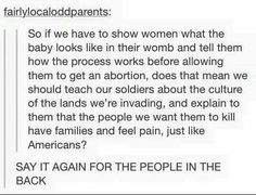 I think that telling soldiers all of that is actually really important