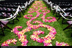 Floral Aisle for an outdoor ceremony