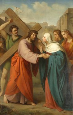 The Sorrowful Mystery : The Carrying of the Cross. Pictures Of Christ, Jesus Christ Images, Jesus Mother, Blessed Mother, Mother Mary, Religious Images, Religious Art, Jesus Suffering, Philippe De Champaigne