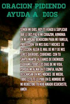Señor mi Dios God Prayer, Prayer Quotes, Mom Quotes, Quotes About God, Bible Quotes, Spanish Prayers, Inspirational Prayers, Catholic Prayers, Morning Prayers