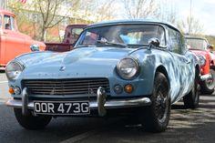 Triumph GT6 Mk1 in wedgewood blue             www.tssc.org.uk