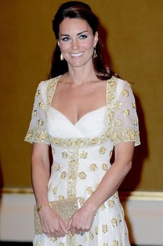 The Duchess of Cambridge wore a beautiful Alexander McQueen dress at the dinner