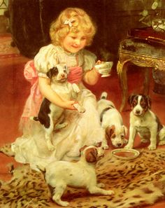 Arthur John Elsley (1861-1952) - TeaTime - Oil on canvas (Private collection)