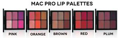 MAC Pro Lip Color Palette Shades