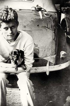 John Kennedy, Les Kennedy, Young Jfk, Weenie Dogs, Doggies, Pet Dogs, Dachshund Love, Daschund, Vintage Dachshund