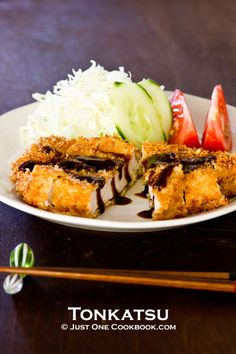 Tonkatsu recipe - The key to great Tonkatsu is to double fry the pork. You deep fry once and let the pork sit for a bit, then deep fry again to get the ultimate crispiness. I hope you enjoy my Tonkatsu recipe at home! #Japanese #pork