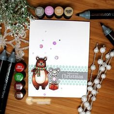 We're wishing you all a Beary Christmas!  You're all in for a Christmas treat today... @ilinacrouse has joined us on our blog to show you all how you can create her stunning Xmas card! We think it's just adorable :) We hope your Christmas preparations are going as smoothly as ours at Chameleon HQ.  Santa has already placed a large order for pens for all of you with them on your wish list..so fingers crossed!  #chameleonpens #alcoholmarkers #blog #xmas #christmas #card #bear #cardmaking…