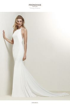 Pronovias Wedding Dress. Find Pronovias and More at Here Comes the Bride in San Diego, CA. HCTB.net (619) 688-9201 Wedding Dress Sizes, Elegant Wedding Dress, Designer Wedding Dresses, Bridal Dresses, Wedding Gowns, Wedding Blog, Destination Wedding, Boho Wedding, Halter Neck Wedding Dresses