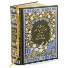 """Jane Austen.The novels included in this beautiful leather-bound collection; """"Sense and Sensibility"""", """"Pride and Prejudice"""", """"Mansfield Park"""", """"Emma"""", """"Northanger Abbey"""", """"Persuasion"""" and """"Lady Susan"""".  want it for my collection :)"""