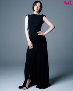Hyogo, Keiko Kitagawa, Marie, One Shoulder, High Neck Dress, Actresses, Formal Dresses, Lady, Model