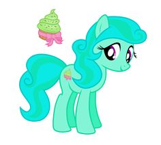 Mint Delight is best friends with Dip Dye, and you can often find them together at the ice cream shop. She is very shy at first, but once you get to know her, she is very sweet, sensitive, and funny.