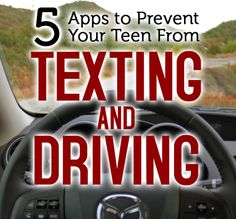 We all know how dangerous texting while driving is. These apps will help keep your teens safe on the road.