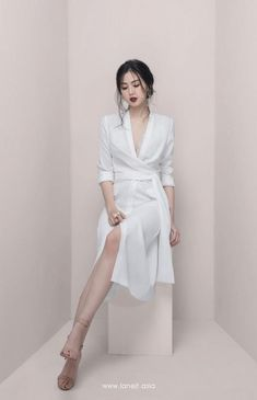Pin on Dresses❤️ All products are designed and made by Lane JT Dress Outfits, Girl Outfits, Fashion Dresses, Korean Fashion Dress, Front Slit Dress, Dress Up, Look Fashion, Girl Fashion, Womens Fashion