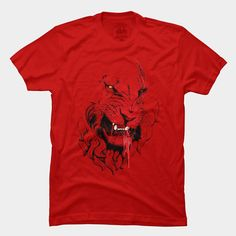 best of 2013 goliath tshirt red lion growl teeth blood