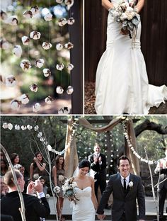 Natural cotton garland and bouquet