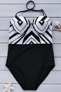 Stripe Spliced Cami One-Piece Swimwear