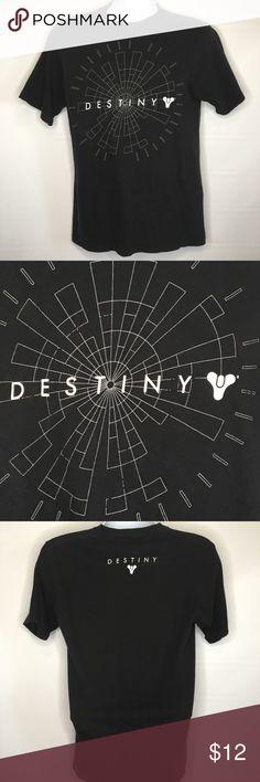 Destiny Logo Black T Shirt Medium Hot Topic F19 Hot Topic 🔥 Destiny Logo Black T Shirt Medium Bungle Net Brand Bungle Net Shirts Tees - Short Sleeve